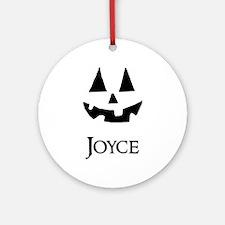 Joyce Halloween Pumpkin face Ornament (Round)