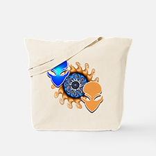 Double Trouble Blue N Orange Tote Bag