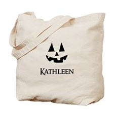 Kathleen Halloween Pumpkin face Tote Bag