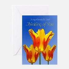 For dad Thinking of you, tulips Greeting Cards