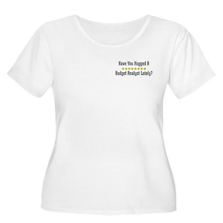Hugged Budget Analyst Women's Plus Size Scoop Neck