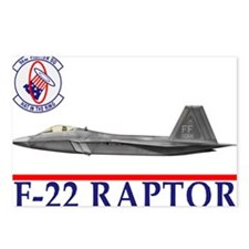Funny F 22 raptor aircraft Postcards (Package of 8)