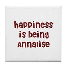 happiness is being Annalise Tile Coaster