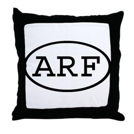 ARF Oval Throw Pillow