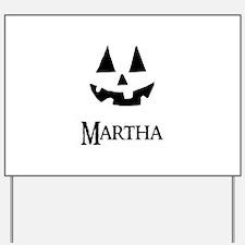 Martha Halloween Pumpkin face Yard Sign