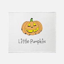 Little Pumpkin Throw Blanket