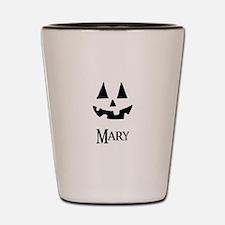 Mary Halloween Pumpkin face Shot Glass