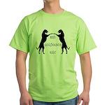 Irish Wolfhounds Rule Green T-Shirt