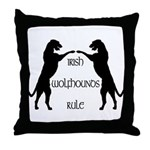 Irish Wolfhounds Rule Throw Pillow