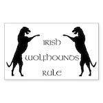 Irish Wolfhounds Rule Rectangle Sticker