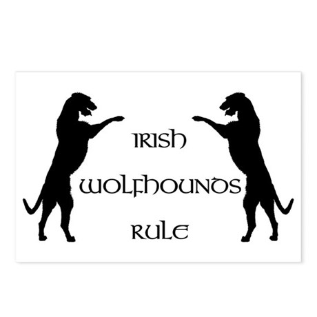 Irish Wolfhounds Rule Postcards (Package of 8)