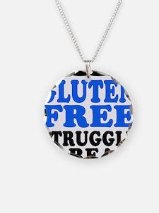 Gluten Free Struggle Blue/Black Necklace