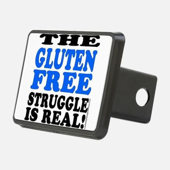 Gluten Free Struggle Blue/Black Hitch Cover