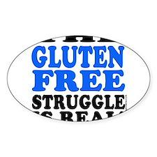 Gluten Free Struggle Blue/Black Decal