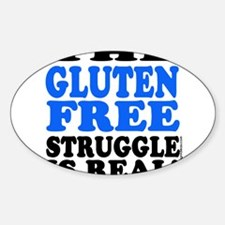 Gluten Free Struggle Blue/Black Decal
