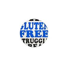 Gluten Free Struggle Blue/Black Mini Button (10 pa
