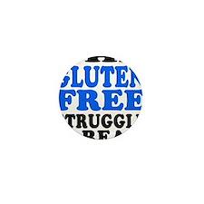 Gluten Free Struggle Blue/Black Mini Button