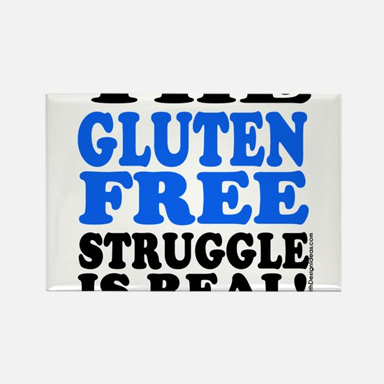 Gluten Free Struggle Blue/Black Magnets