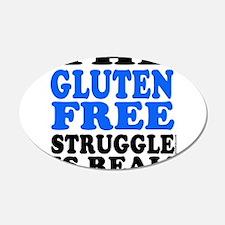 Gluten Free Struggle Blue/Black Wall Decal