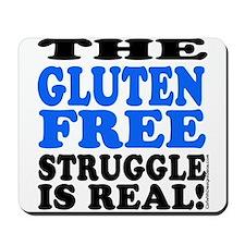 Gluten Free Struggle Blue/Black Mousepad