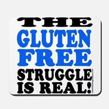 Gluten Free Struggle Blue/Black Mousepad