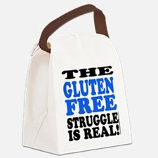 Gluten Free Struggle Blue/Black Canvas Lunch Bag
