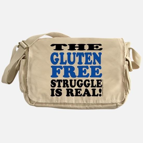 Gluten Free Struggle Blue/Black Messenger Bag