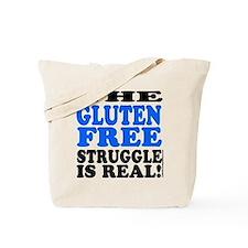 Gluten Free Struggle Blue/Black Tote Bag