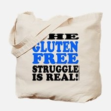 Gluten Free Struggle Blue/Black Tote Bag