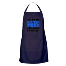 Gluten Free Struggle Blue/Black Apron (dark)
