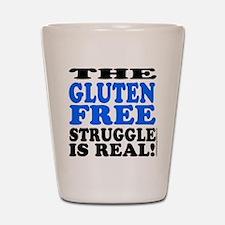Gluten Free Struggle Blue/Black Shot Glass