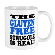 Gluten Free Struggle Blue/Black Mugs