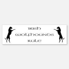 Irish Wolfhounds Rule Bumper Bumper Bumper Sticker