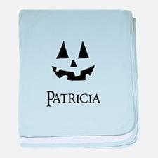Patricia Halloween Pumpkin face baby blanket