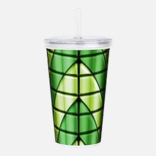 Superheroes - Green Acrylic Double-wall Tumbler