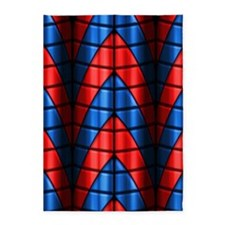 Superheroes - Red Blue 5'x7'Area Rug