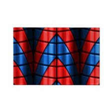 Superheroes - Red Blue Rectangle Magnet (100 pack)