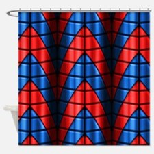 Superheroes - Red Blue Shower Curtain