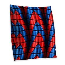 Superheroes - Red Blue Burlap Throw Pillow