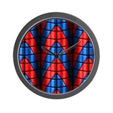 Superheroes - Red Blue Wall Clock