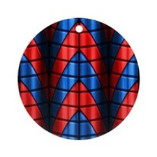 Superheroes - Red Blue Ornament (Round)