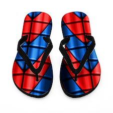 Superheroes - Red Blue Flip Flops