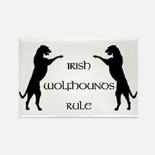 Irish Wolfhounds Rule Rectangle Magnet
