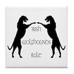 Irish Wolfhounds Rule Tile Coaster