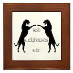 Irish Wolfhounds Rule Framed Tile