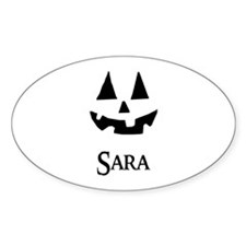 Sara Halloween Pumpkin face Decal