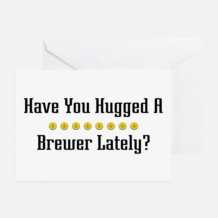Hugged Brewer Greeting Cards (Pk of 10)