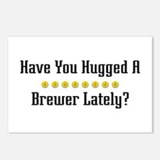 Hugged Brewer Postcards (Package of 8)