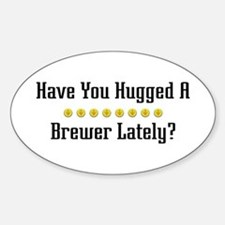 Hugged Brewer Oval Decal