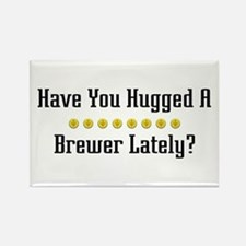 Hugged Brewer Rectangle Magnet